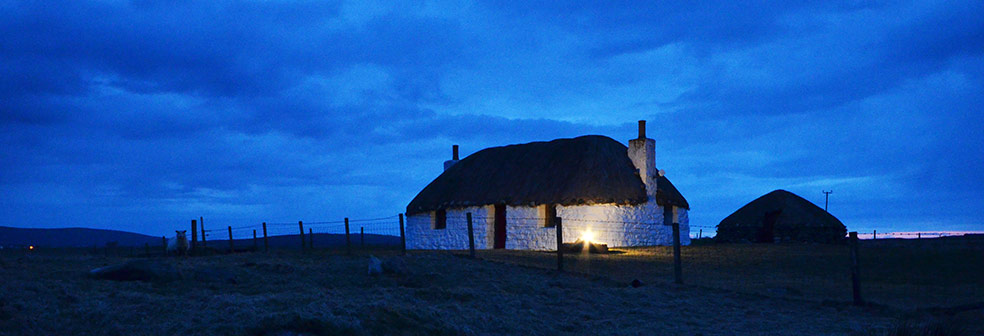 Boreray Cottage at night