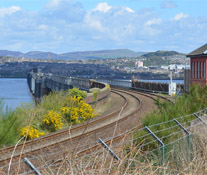 Rail Bridge Crossing River Tay