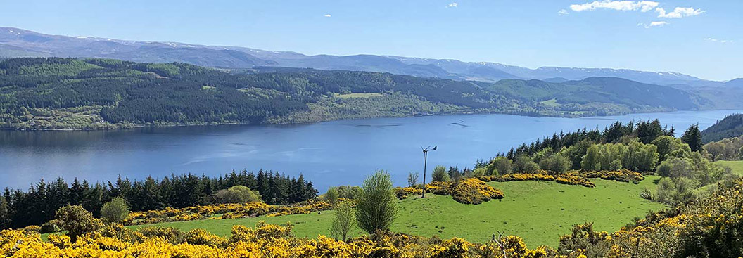 View over Loch Ness