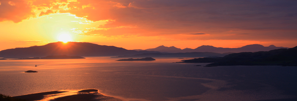 Sunset over Loch Crinan