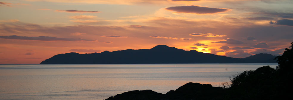 Sunset from The Drimnin Estate