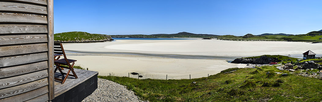 View from Carnish Cabins, Uig Sands