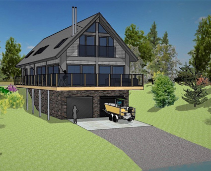 Loch Awe Boathouse - Artist's Impression
