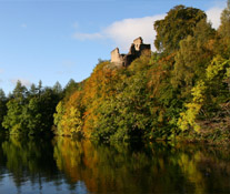 Invergarry Castle on Loch Oich