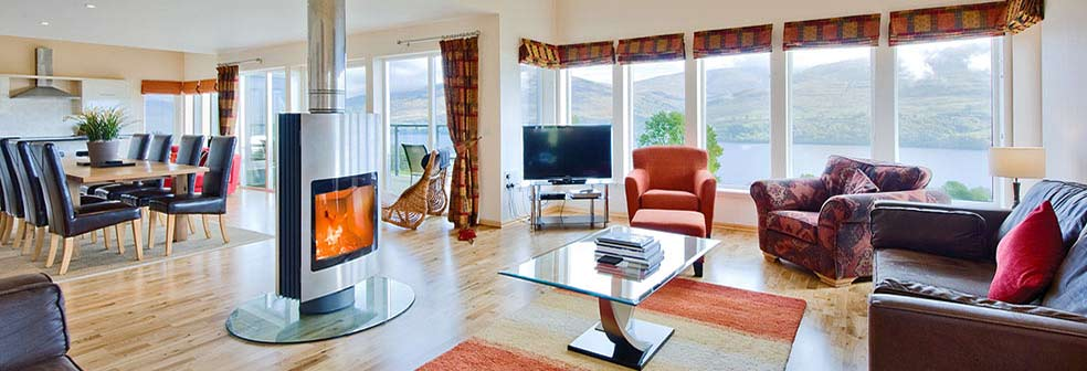 Loch Tay House Living area