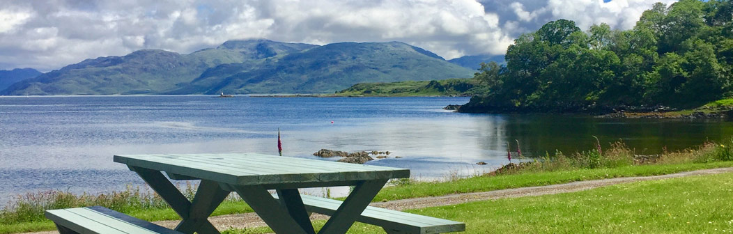 Outside seating at Sandaig Cottage